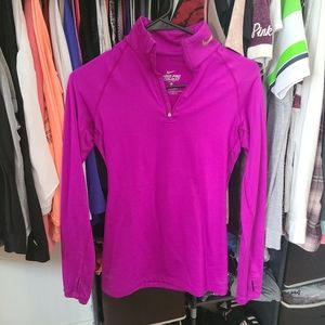 Nike dri fit quarter zip xs